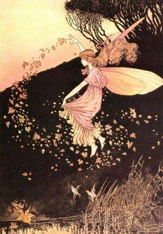 Vintage Fairy Illustration ( pixie / sprite / wings / magic )