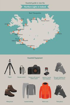 Essential guide to view the Northern lights infographic
