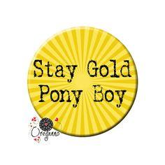 Alojarte oro Pony Boy The Outsiders citar años 80 cine por Oreganno