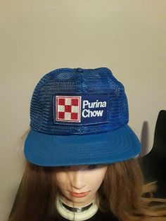 536540d0b45 Vintage PURINA CHOW All Mesh Trucker Snapback Hat Made in USA  fashion   clothing  shoes  accessories  mensaccessories  hats (ebay link). Chris  Patino
