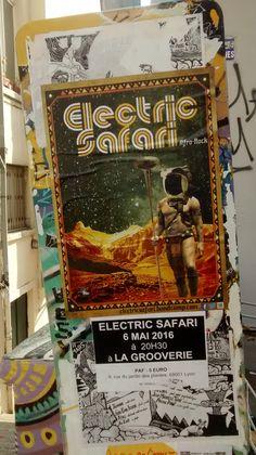 Concert du groupe Electric Safari Afro, Rock, Electric, Concert, Illustration, Stone, Recital, Illustrations, Concerts