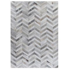 Found it at Wayfair - Natural Hide White/Silver Area Rug