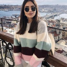 Cute Sweaters, Be Still, Round Sunglasses, Luxury Fashion, Fall Winter, Pullover, Outfits, Clothes, Beautiful