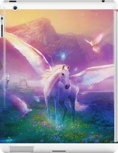 Unicorns In Fantasy World Ipad Snap Case by bluenoodles