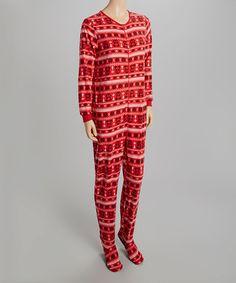 Loving this Red & Black Penguin Footie Pajamas - Women on #zulily! #zulilyfinds