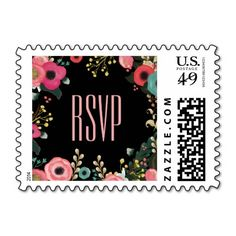 Modern Floral Painting Design Wedding RSVP Postage Stamps. Matching Bridal Shower Invitations, Wedding Invitation Cards, Wedding Postage Stamps, Wedding Save the Date Announcements, Bridesmaid to be Request Cards, Thank You Cards , RSVP Cards and other Wedding Stationery and Wedding Gifts and Favors available in the Modern Design Category of our Store.