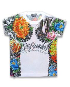 Six Bunnies USAGI Kids T-Shirt.