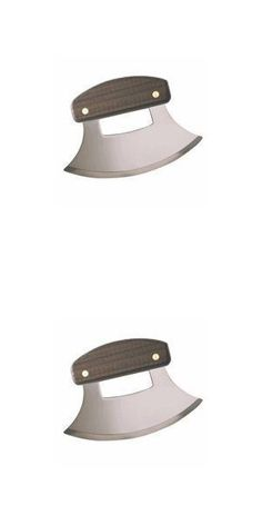 Alaskan Ulu, Legendary Knife of the Arctic - The stainless steel blade, and easy to grip wooden handle make it an excellent tool for single-handed people or individuals with weak hands. - Utility Knives - Health - $14.50