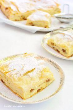 Nu e pe lume desert mai bun şi mai ușor de făcut decât o plăcintă cinstită! Îmi plac toate plăcintele, dar cea pe care o prefer este plăcinta crocantă cu iaurt şi stafide cu umplutura ei fină, cremoasă şi care păstrează gustul inconfundabil al iaurtului. Îmi place să pun în umplutură multă vanilie naturală şi … … Continue reading → Romanian Food, Sweet Cakes, Camembert Cheese, Donuts, Biscuits, Caramel, Easy Meals, Food And Drink, Cooking Recipes