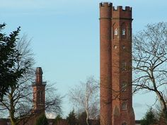 England: The two towers of Perrott's Folly and Edgbaston Waterworks in Edgbaston, Birmingham. The inspiration behind Tolkien's The Two Towers. Travel Around The World, Around The Worlds, Birmingham England, The Two Towers, Waterworks, Old Stone, West Midlands, Days Out, Beautiful Islands