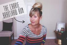 The Carrie Bradshaw Bun // www.thoughtsbynatalie.com