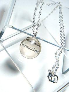 Harry Potter Book Charm Ravenclaw Pendant