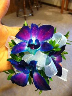 orchid wrist corsage (prom)