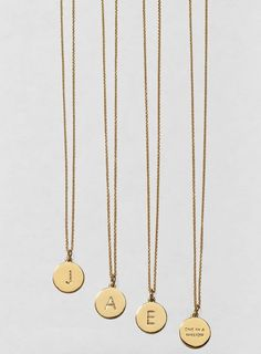These delicate Kate Spade initial pendant necklaces would make great gifts.
