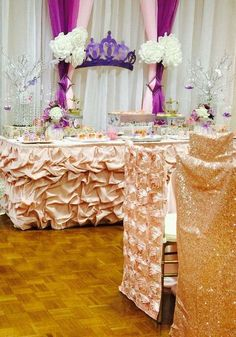 Pretty princess Quinceañera birthday party! See more party planning ideas at CatchMyParty.com!