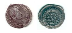 Constantinius II Siliqua, the silver currency of the common people during the later part of the empire's history.