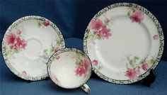 Royal Doulton Trio in the Pink Peony Pattern No. H314 BB139
