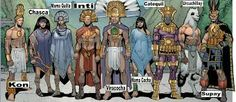 Inca gods and goddesses - Marvel edition Aliens, Marvel Comics, World Mythology, African Mythology, Ancient Myths, Ancient History, Pagan Gods, Comic Book Superheroes, Thunder And Lightning