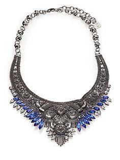 DANNIJO - Elias Crystal Collar Necklace