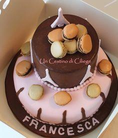 Risultati immagini per torta decorata con macarons