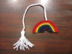 Rainbow Book Marker - Meladora's Free Crochet Patterns & Tutorials