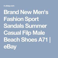 Brand New Men's Fashion Sport Sandals Summer Casual Filp Male Beach Shoes A71 | eBay