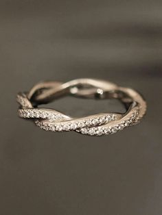 Double twist eternity wedding band...