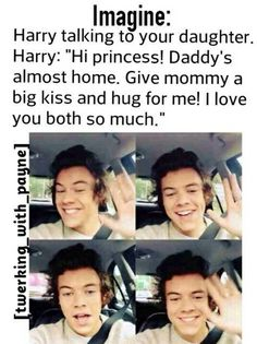 Harry talking to your daughter Cant Wait To See You, I Love You All, Love Of My Life, 1d Imagines, Harry Styles Imagines, One Direction Images, Niall And Harry, Big Kiss, 1d And 5sos