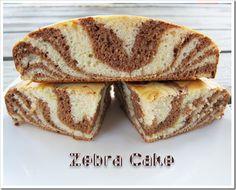No Place Like Kitchen » Russian Low-fat Sour Cream Cake – Zebra Cake