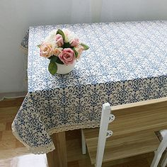 Retro Blue and White Table Cloth with Lace Cotton Print Chinese Classical Rectangular Dinning Table cloth Cover Home Decor Price history. Subcategory: Home Textile. Product ID: Tablecloth Sizes, Floral Tablecloth, Barndominium, Table Top Covers, Table Flag, Wedding Tablecloths, Table Haute, Style Vintage, Scrappy Quilts