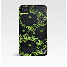 Milly Floral Lace Print Hardcase For Iphone 4/4s ($16) ❤ liked on Polyvore