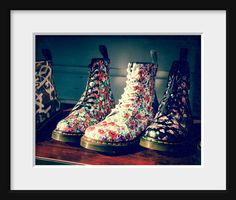 Still life photo Doc Martin Boots Flower by Squintphotography