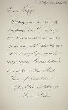Copperplate Letter
