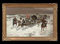 "Adolf (Constantin) Baumgartner-Stoiloff (German/Austrian, 1850-1924), ""Siberian Treasure Train"","