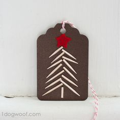 Make a gift tag so cute that recipients will want to hang it on their Christmas trees as an ornament.