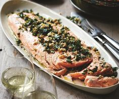 This beautiful baked salmon recipe was a must when Deborah Hutton was selecting recipes for her new book, 'Entertaining Made Easy'. After featuring it on The Australian Women's Weekly's TV Chistmas special, it has become a favourite on her Christmas table Aussie Christmas, Christmas Lunch, Christmas Cooking, Christmas Recipes, Australian Christmas Food, Summer Christmas, Christmas Entertaining, Christmas Food Ideas For Dinner Meals, Dinner Ideas