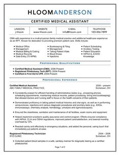 certified medical assistant - Certified Medical Assistant Resume