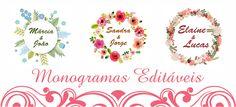 Monograma Editavel Flores