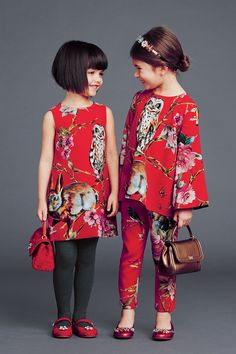 dolce and gabbana winter 2015 child collection 40 Little Girl Fashion, Little Girl Dresses, Fashion Kids, Look Fashion, Girls Dresses, Fashion Clothes, Cheap Dresses, Runway Fashion, Kid Outfits