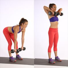 New to using dumbbells? Here are four basic moves to sculpt and strengthen your upper body — perfect for beginners. If you're more advanced, reach for slightly heavier weights or do more reps.