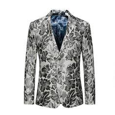 Men's Clothing Earnest Chinese Collar Suit Jacket Gold Print Club Party Prom Jacket Men Floral Blazer Mandarin Slim Fit Blazer Homme Plus Size 6xl Blazers