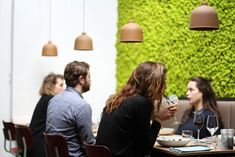 CruxDiy Snapshots: Browse, discover, and be inspired by the world is best home designs. Ed Design, Wall Design, Design Ideas, Small Business Week, Stone Panels, Cafe Bistro, Moss Wall, Office Plants, Reception Areas