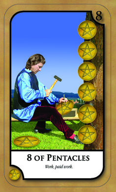 #SimplyTarotCard for Friday 13th January 2017 8 OF PENTACLES  Work. Paid work Join our news letter @ www.amandahallpsychic.com.au Lots of events and great special prices on products and services.  Like our FB Page https://www.facebook.com/amandahallpsychic/ Twitter: PsychicAmandaH Intsagram psychicamandah Pinterest:PsychicAmandaH Google+ : https://plus.google.com/u/0/
