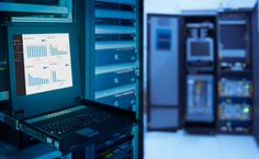 monitor show graph information of network traffic and status of device in server room data center and blur background Oracle Linux, Managed It Services, It Service Provider, Server Room, Security Solutions, Blurred Background, Cheap Web Hosting, Data Visualization, Monitor
