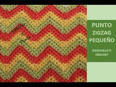 Como tejer el punto zig zag pequeño ganchillo o crochet