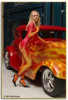 """""""Gretchen in Flames"""", copyright Art Ketchum"""