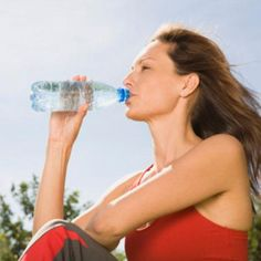 To find out exactly how much water you should be drinking, divide your body weight (in pounds) by two and aim to drink that many ounces of water every day.