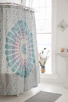 Magical Thinking Odette Medallion Shower Curtain - Urban Outfitters.  I NEEDD THIS ASAP