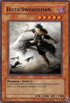 Hoto Swordsman Yu-gi-oh! TCG Warrior