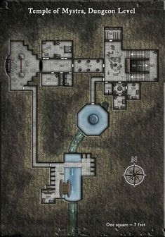 Temple of Mystra, Dungeon | RPG map odds and ends | Pinterest ...